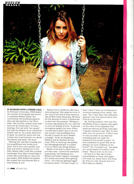 Keeley Hazell – FHM UK Magazine (January 2013)