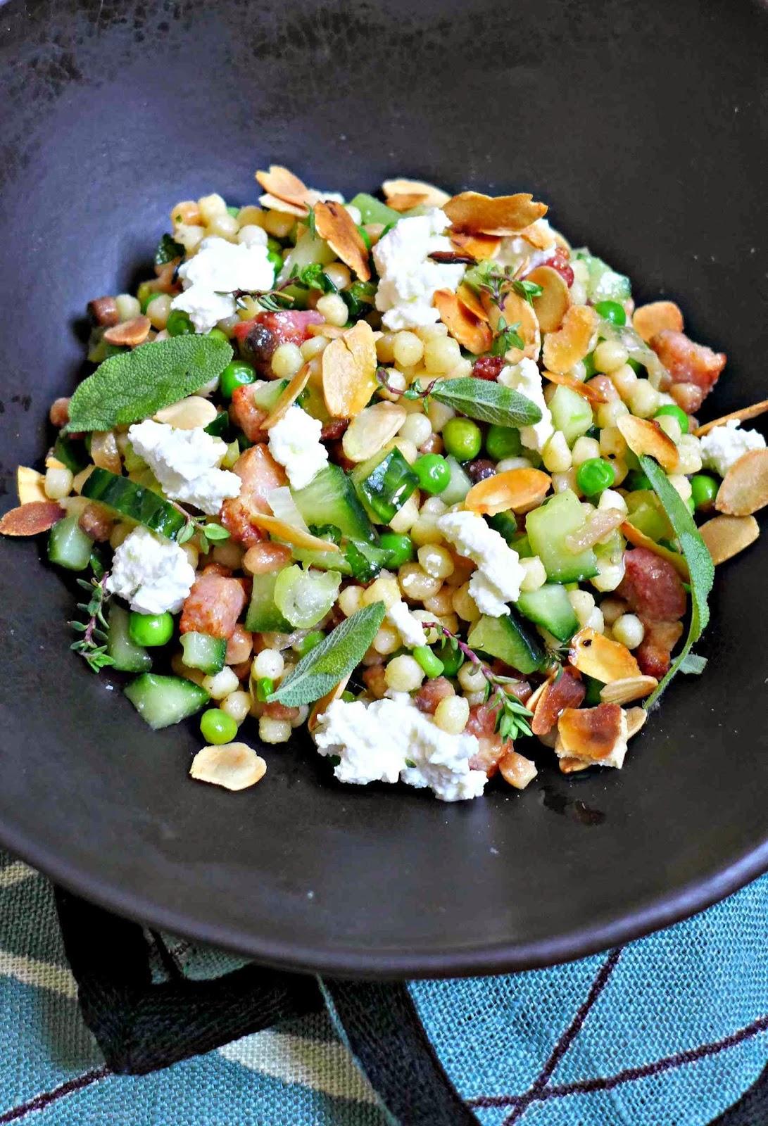 Salade de fregola sarda petits pois et citron confit - Salade originale ete ...