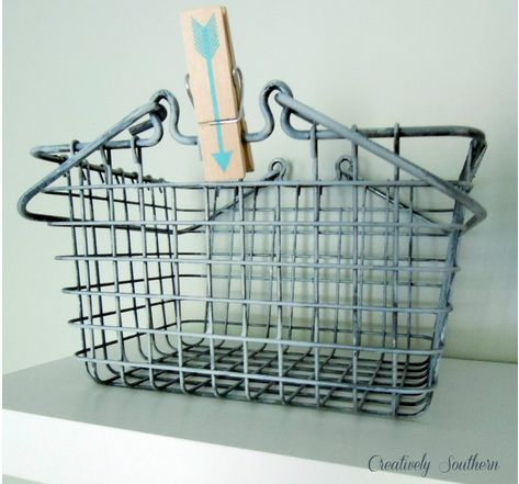 Faux Vintage Wire Baskets (Painted)