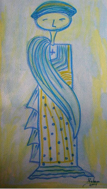 De la serie: Seres de luz. Dibujo ciego