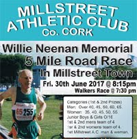 Millstreet 5 mile race in NW Cork...Fri 30th June 2017