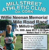 Millstreet 5 mile race in NW Cork...Fri 30th June 2017
