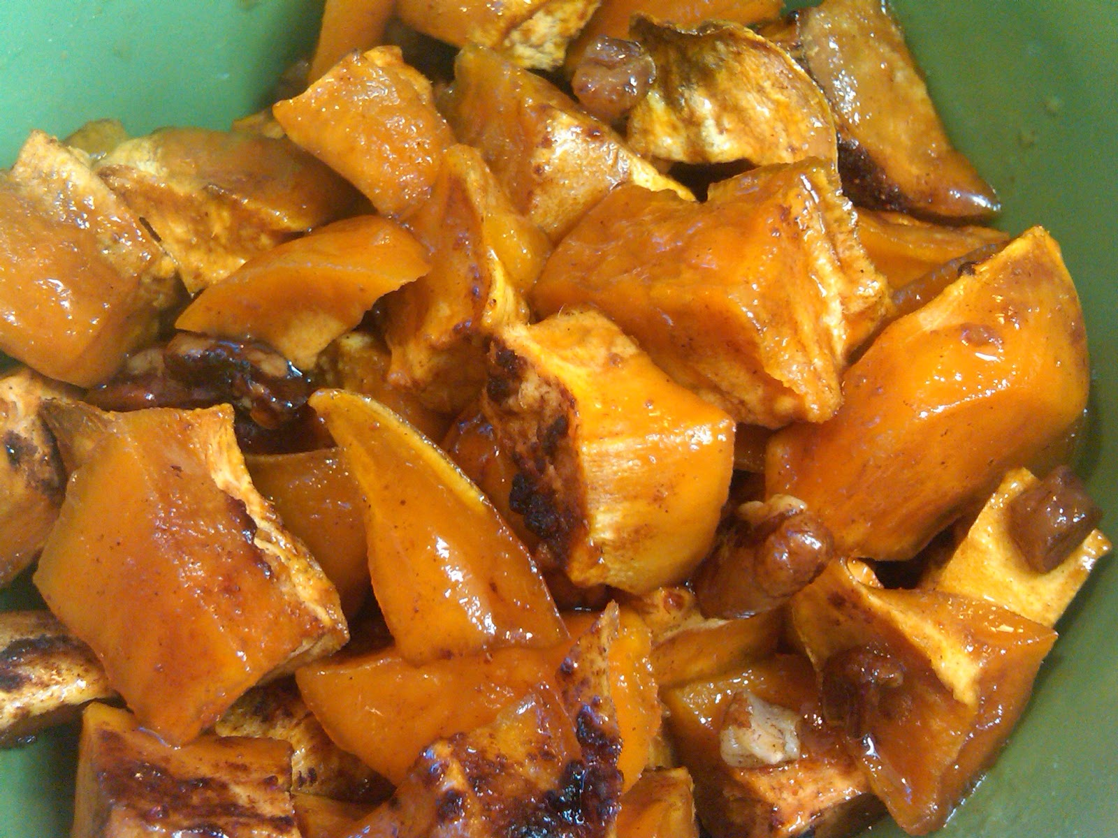 roasted sweet potatoes 2 sweet potatoes peeled and cubed 1
