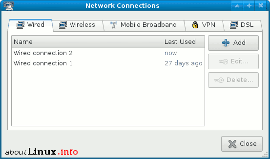 Network Manager Applet