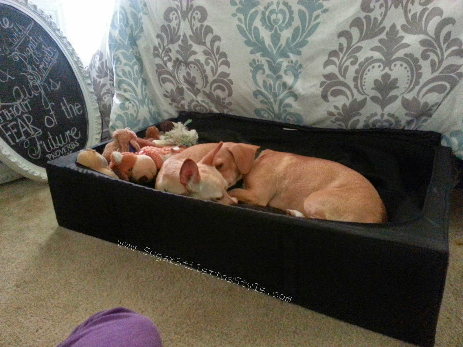 Ikea hack diy skubb dog bed trundle sugar stilettos style
