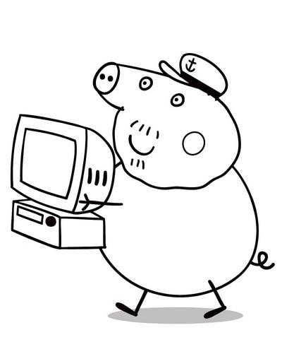 Girotondo di bimbi disegni da colorare peppa pig for Peppa pig da stampare