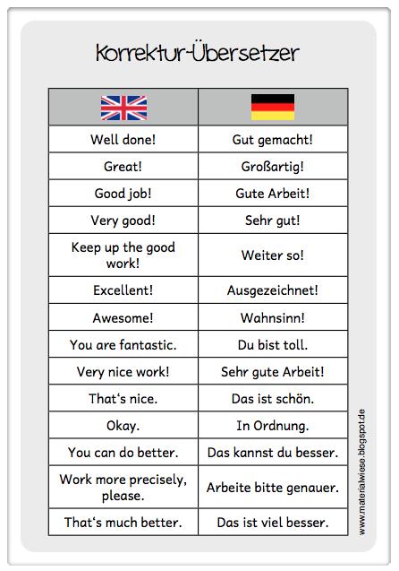 Materialwiese: Korrektur-u00dcbersetzer fu00fcr das Englischheft