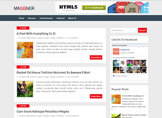 Top seo friendly and responsive blog templates maggnermagazinebloggertemplate pronofoot35fo Image collections
