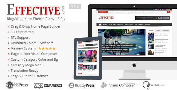 Effective News - Responsive WP News Magazine blog