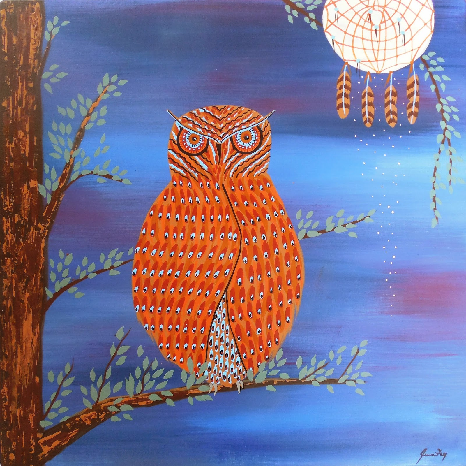 Conscious Art Studios The Great Horned Owl Symbolic Meaning Under