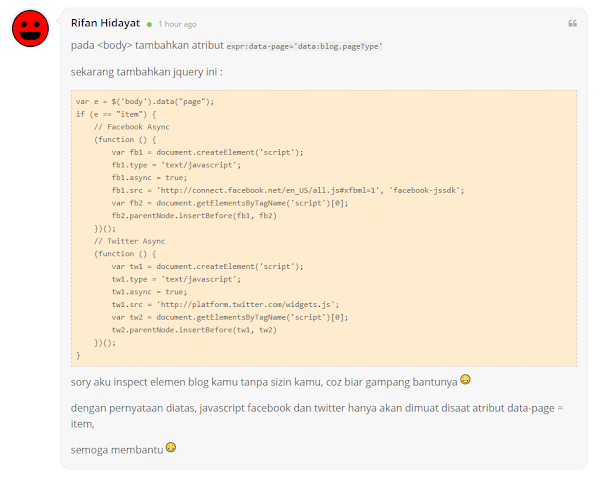 Cara Membuat JS/Jquery Hanya Tampil Di Halaman Statis/Homepage/Item (postingan) saja