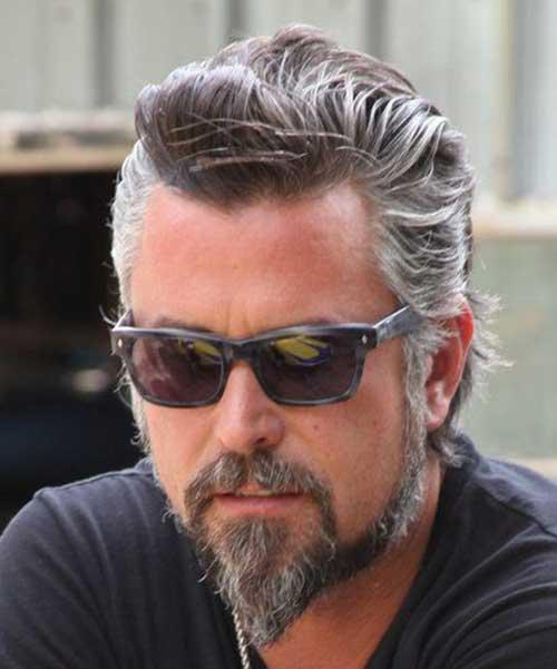 Corte de pelo hombre gris
