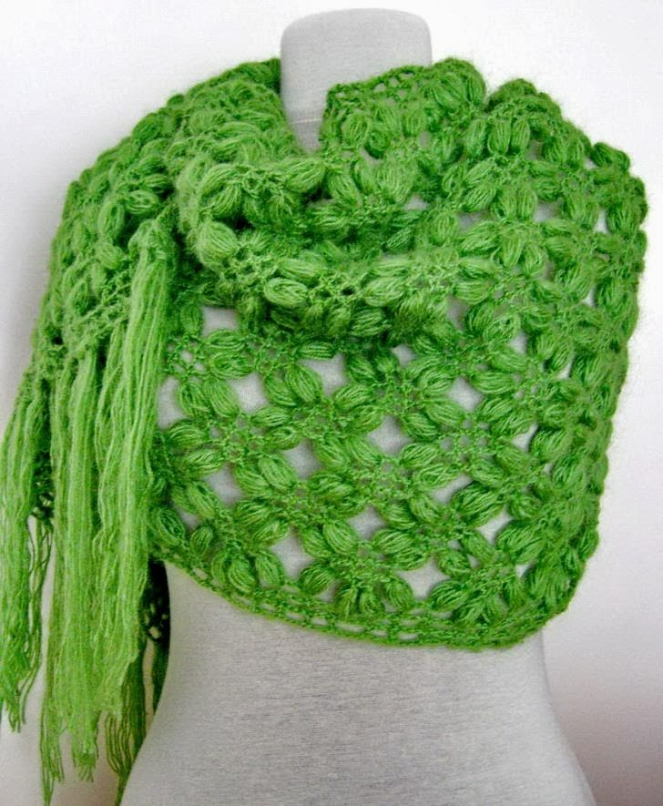 Crochet Shawls: Crochet Shawl Wrap For Winter - How to Crochet Scarf
