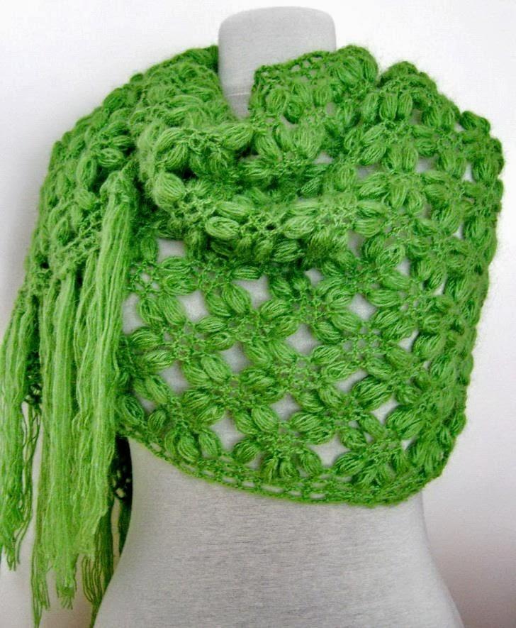 Crochet Patterns Wraps : Crochet Shawls: Crochet Shawl Wrap For Winter - How to Crochet Scarf