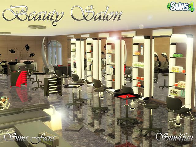 My sims 4 blog beauty salon decorative set by sim4fun for Salon moderne sims 4
