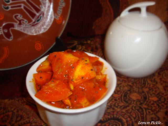images for Lemon Pickle Recipe / Nimboo ka Achar Recipe / South Indian Lemon Pickle Recipe