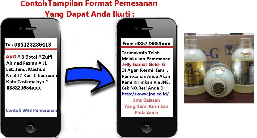 Format Pemesanan Jelly Gamat Gold- G Melalui Sms