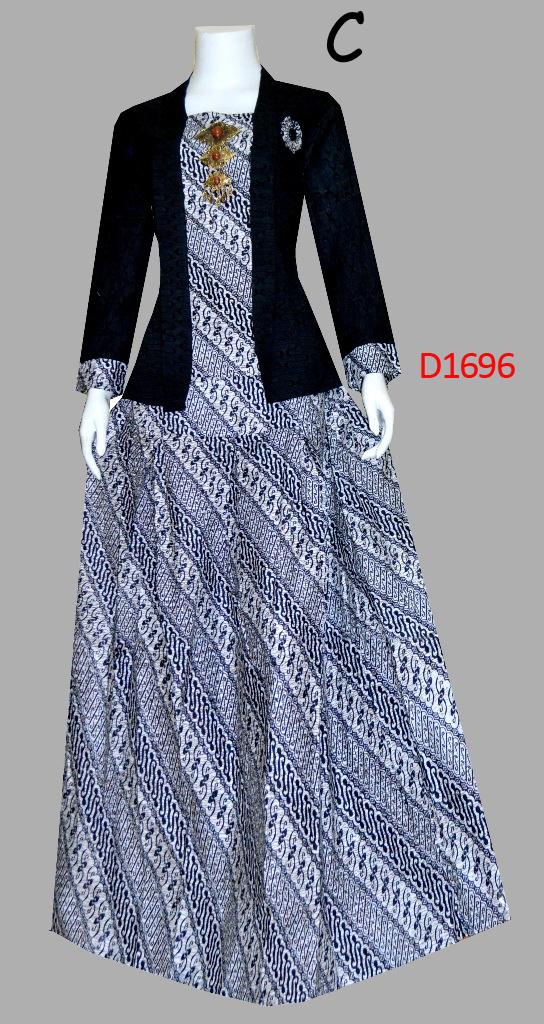 Baju Batik Wanita Stelan Rok Dan Blus D1696