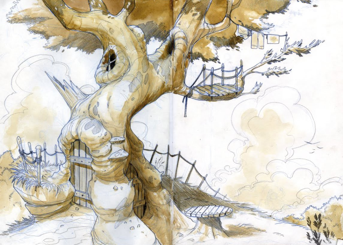 gaspard illustrations arbre maison. Black Bedroom Furniture Sets. Home Design Ideas