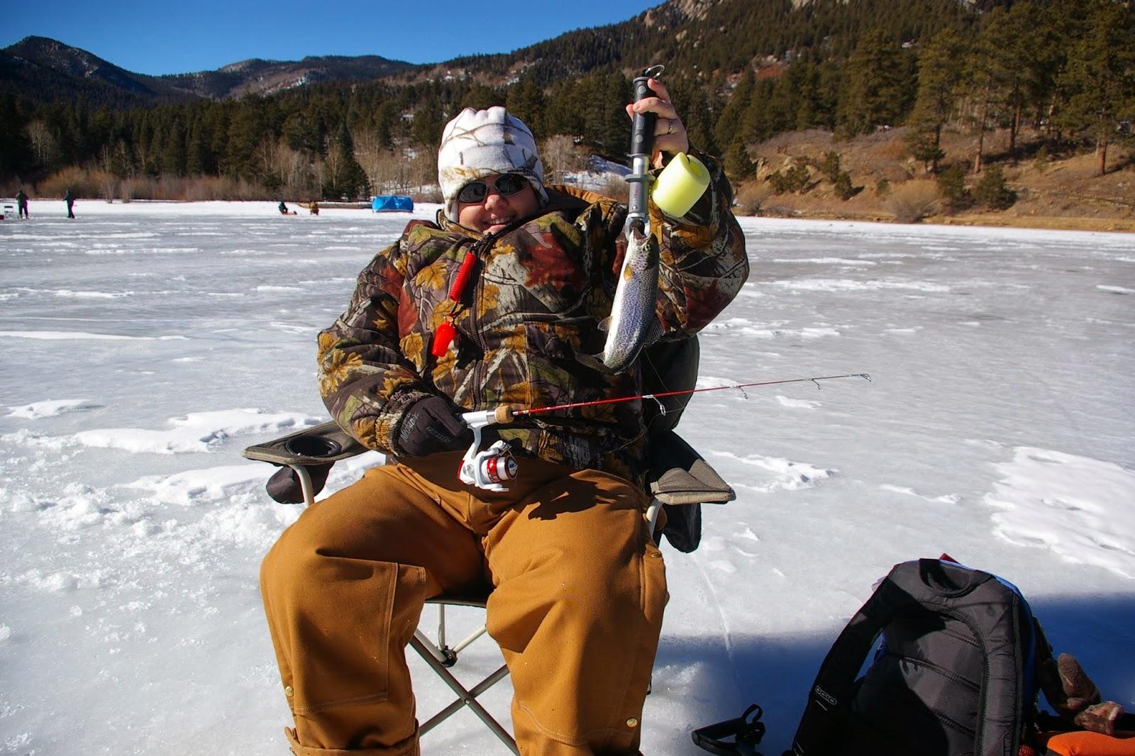 Ice fishing girls - photo#17
