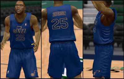 NBA 2K13 Utah Jazz Christmas Jersey