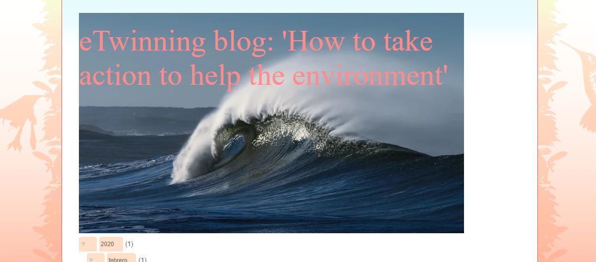 eTwinning project blog