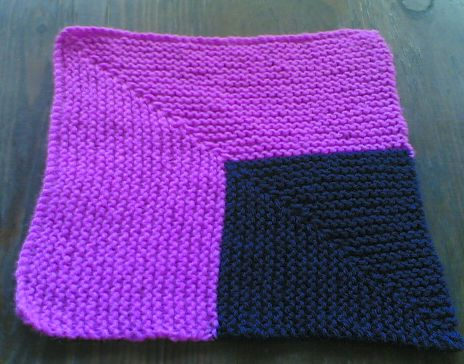 Knitting Galore How To Knit A Mitered Square