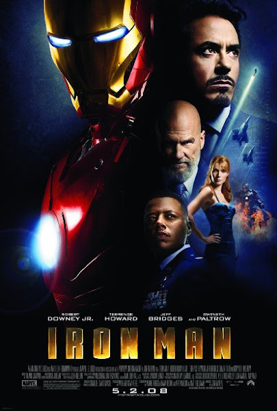 Poster Of Iron Man 2008 720p In Hindi BRRip Dual Audio