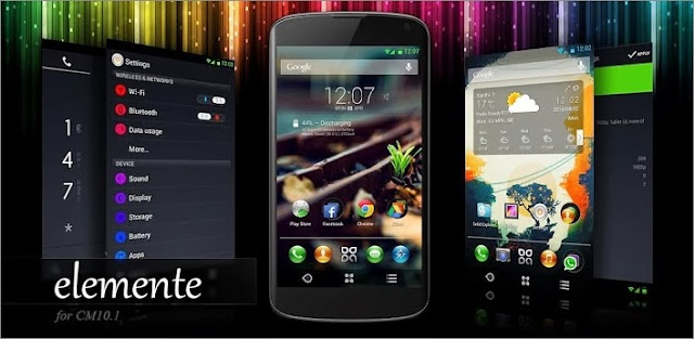 Download Elemente Theme for CM9 / CM10.2 v1.7.2 Android Apk Full