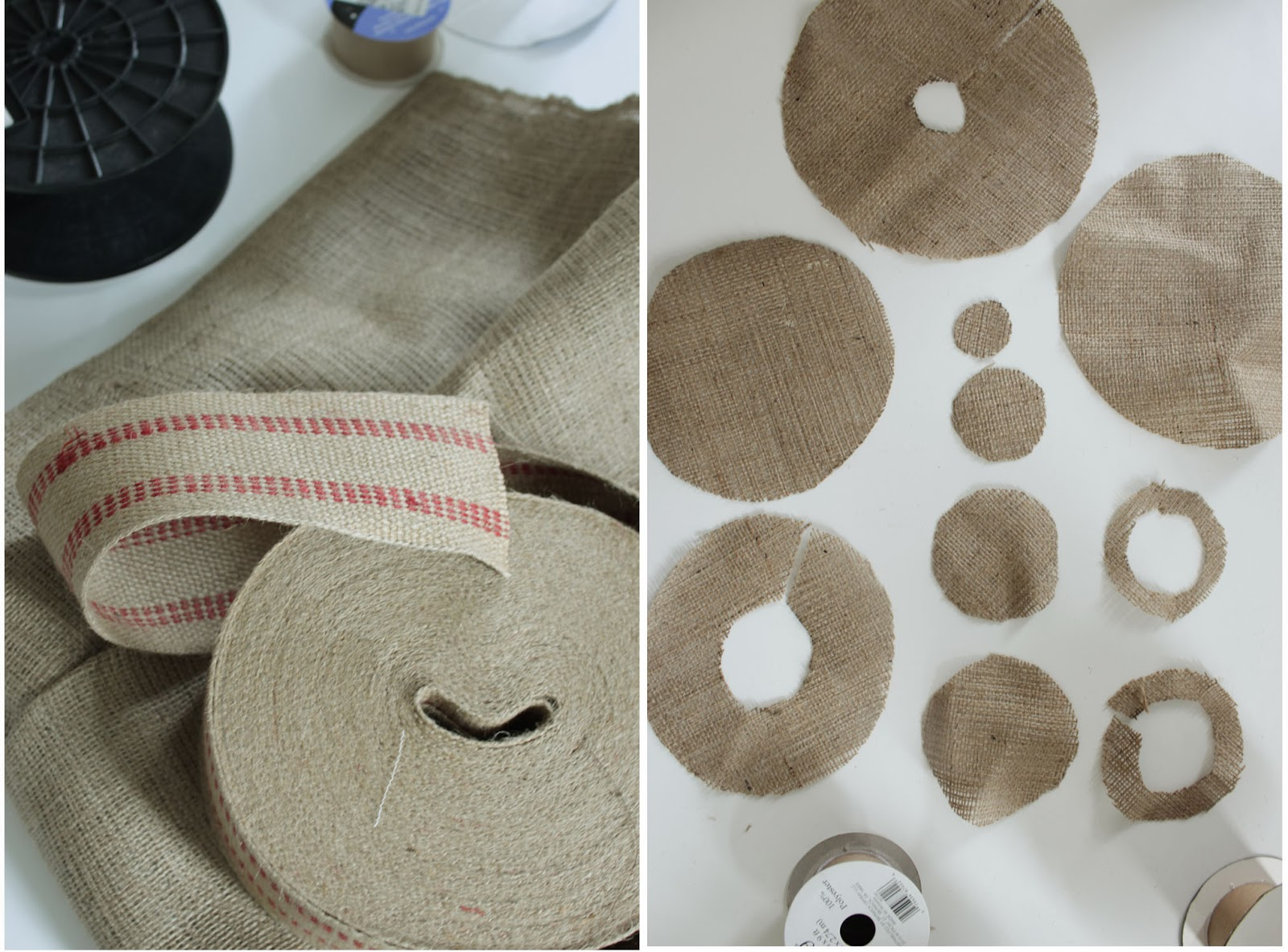 burlap+and+webbing+for+spool+christmas+t