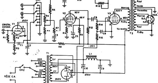 valvulares circuitos  circuito amplificador valvular 10w con el34