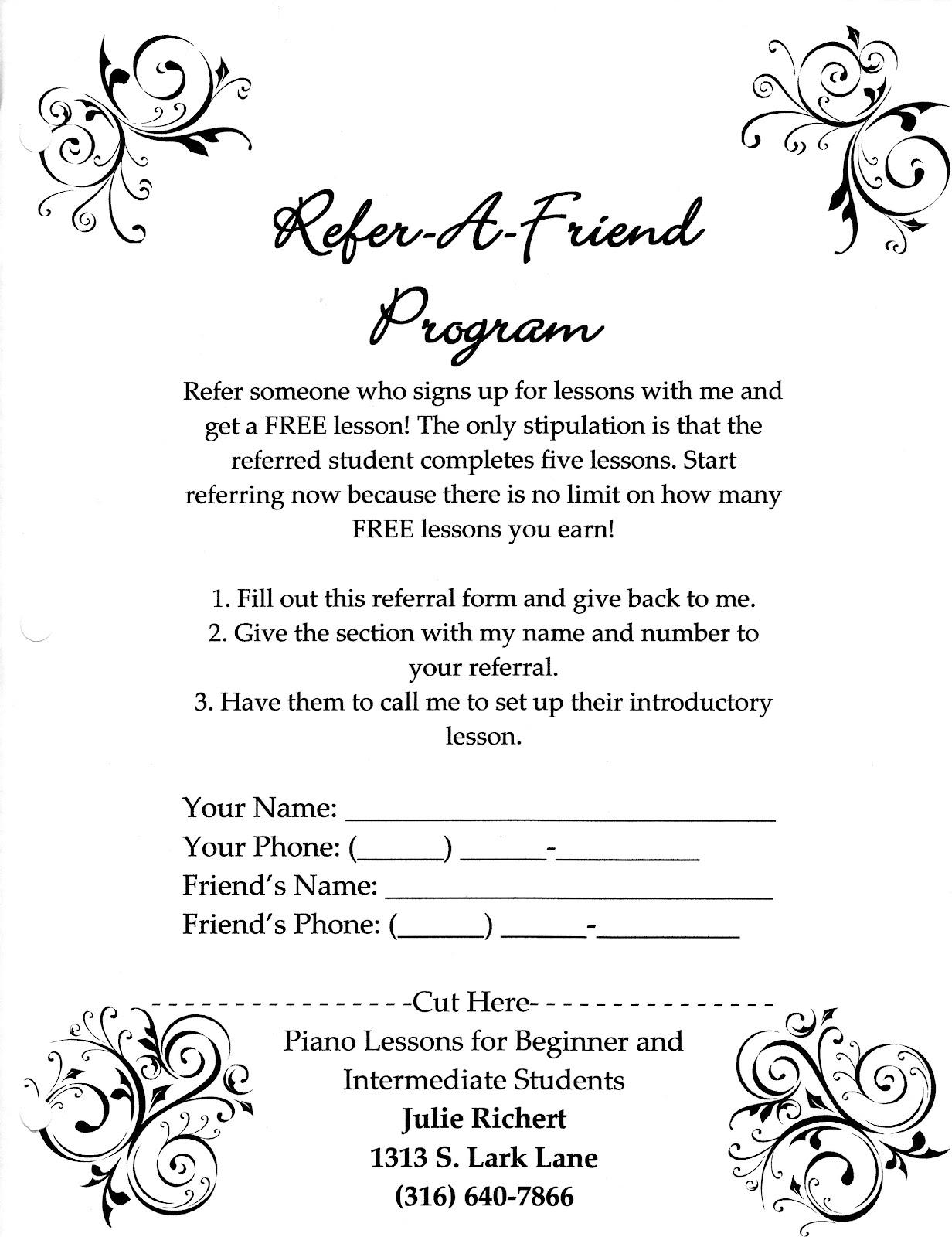 refer a friend template