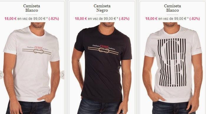 Camisetas de Gianfranco Ferré muy baratas
