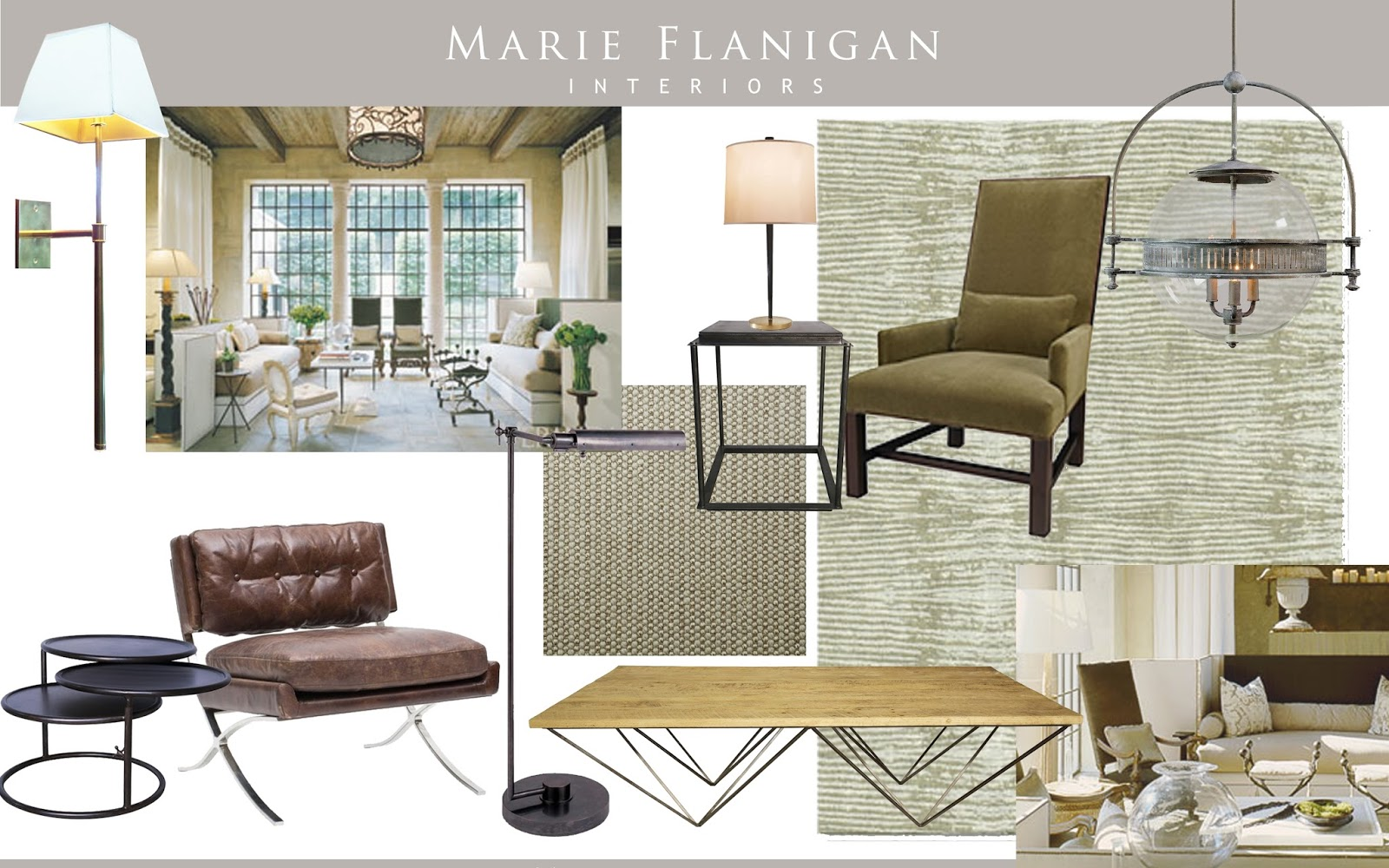 Tailored Lines, An Organic Color Palette, And A Soothing Blend Of Metal And  Wood. Marie Flanigan Interiors