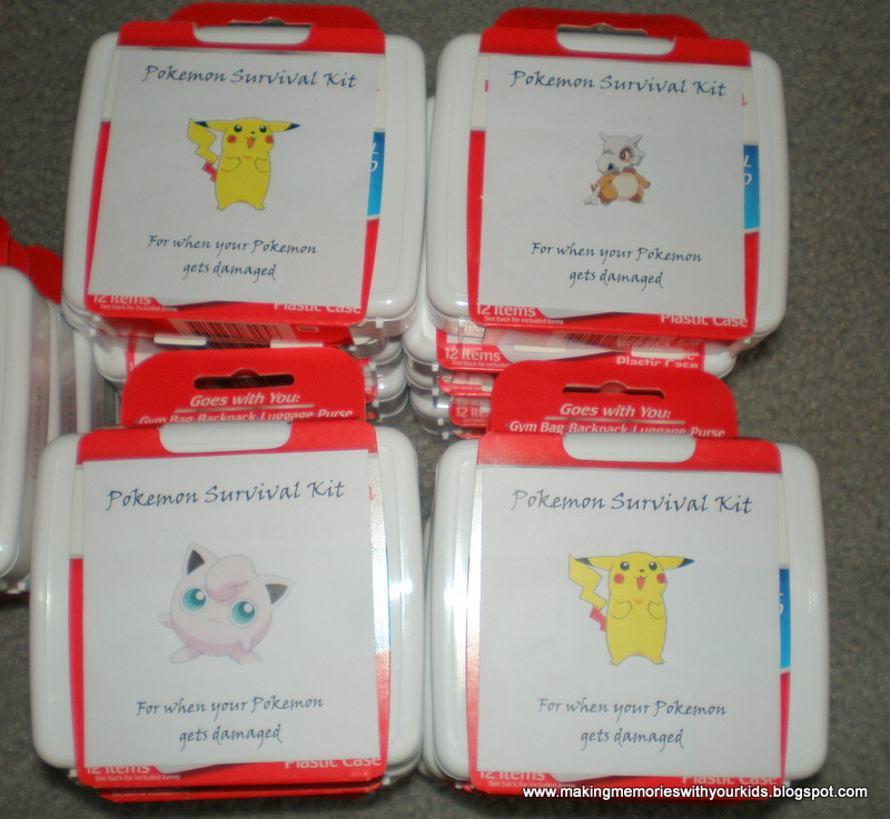 Pokemon Birthday Party The Goody Bags