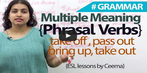 Learn Phrasal Verbs with Multiple Meanings