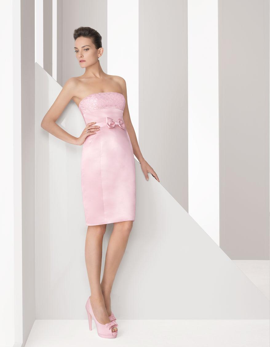 Vestidos de fiesta two rosa clara