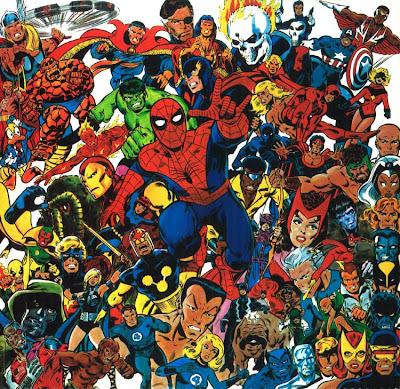 Dibujo de Superhéroes Marvel