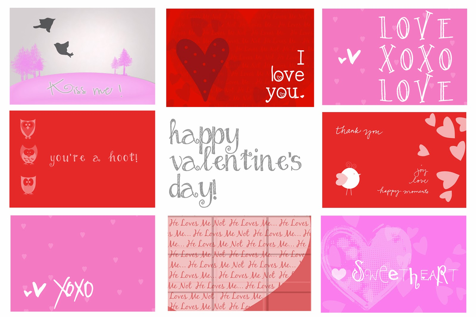 Printable Birthday Cards Printable Valentines day Cards – Print Valentines Day Card