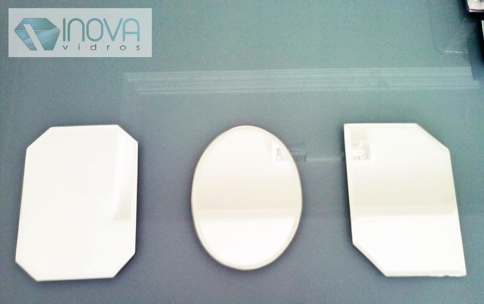 #212E35 Alguns modelos de espelhos para amostras. 1580 Vidros Janelas Fortaleza