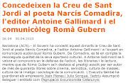 . 'Catalunya' entre los premiados de este año de 'La Creu de Sant Jordi' (creu de sant jordi )