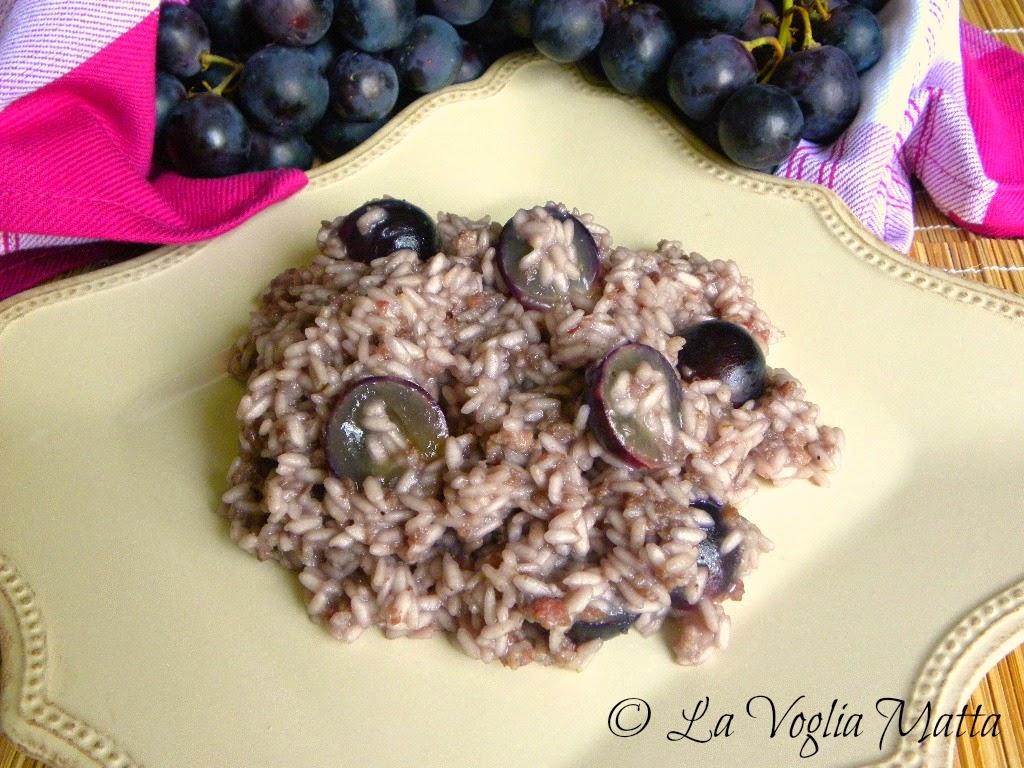 ricetta risotto all'uva