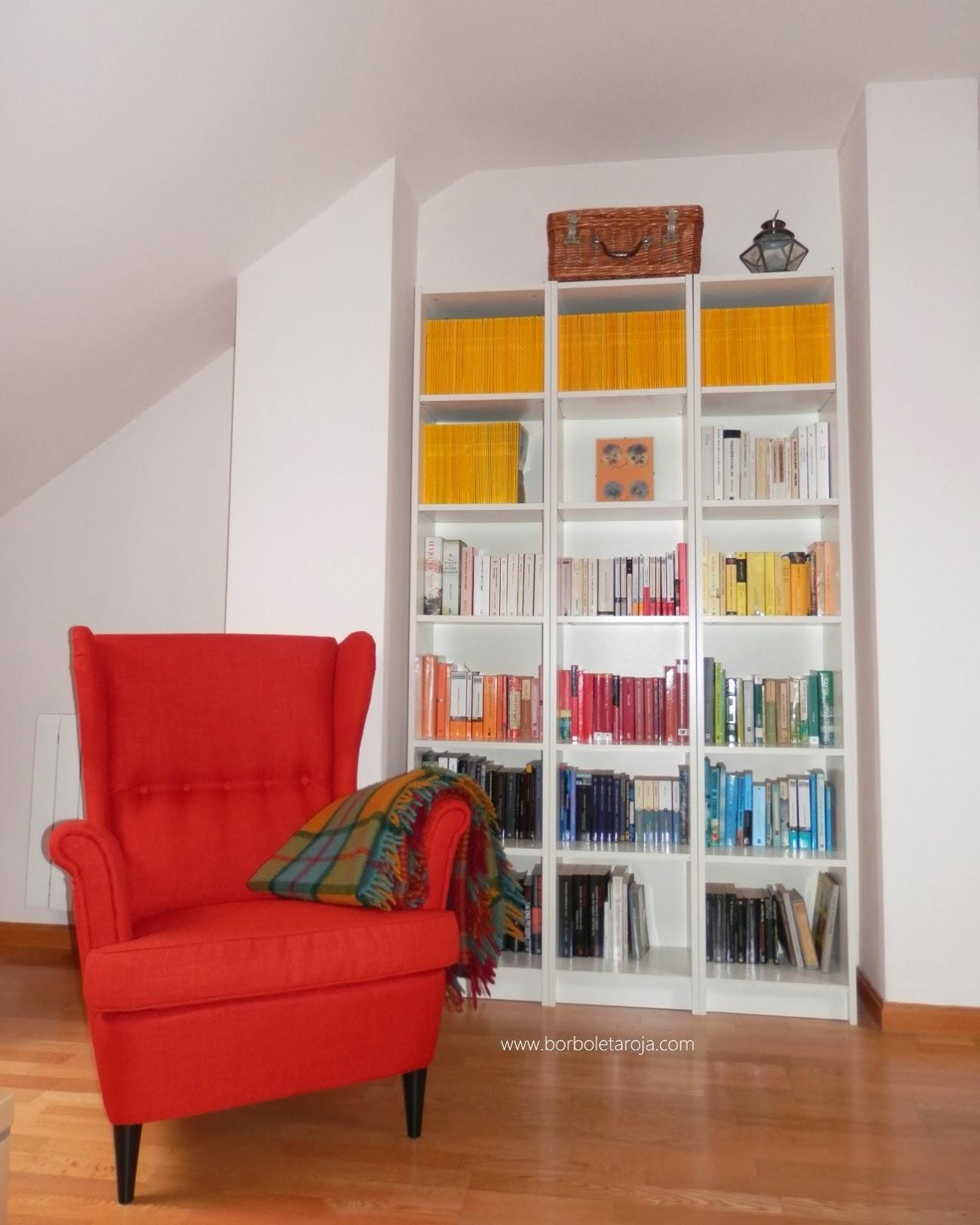 Borboleta Roja: Házlo tú mismo: Organizar libros por colores