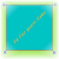 Construção de um quadrado conhecendo-se a medida de seu lado.