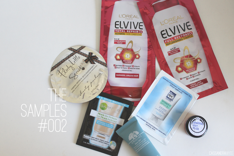 THE SAMPLES #002   L'Oreal, Booty Parlor, Garnier, ROC, The Body ...
