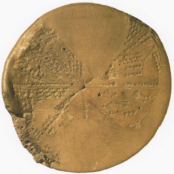 Pedra cuneiforme de Ninawa comprovando o evento de Sodoma
