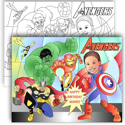 NEW* THE AVENGERS * CUSTOM COLORING PAGE