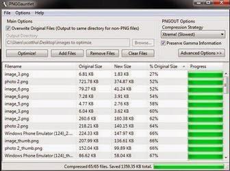 Software PNGGauntlet: Kompres / Mengecilkan Ukuran File Gambar Format PNG