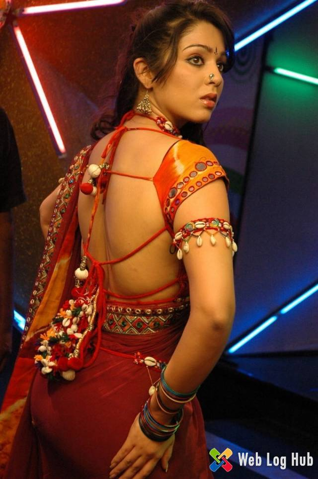 Charmi Hot Backless and Butts Show in Red Saree - Web Log Hub
