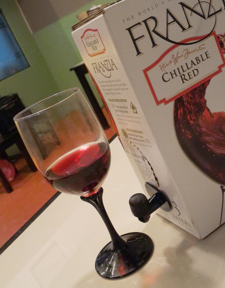 FRANZIA: CHILLABLE RED WINE IN A BOX